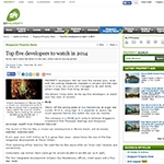 Top five developers to watch in 2014